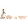 Ostheimer - 1090 - Bäuerin mit Schweinen 4-tlg.