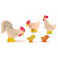 Ostheimer - 13110 - Hühner Gruppe weiß, 5tlg