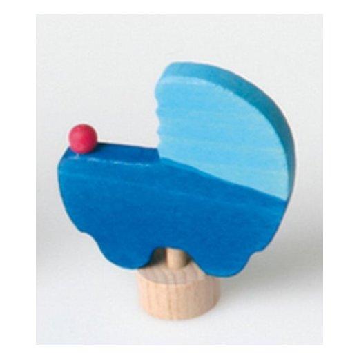 Grimms - 03381 - Stecker Puppenwagen, blau - bald ausverkauft