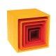 Grimms - 10560 - Kleiner Kistensatz, bunt, außen gelb - bald ausverkauft