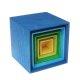Grimms - 10570 - Kleiner Kistensatz, bunt, außen blau - bald ausverkauft