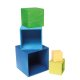 Grimms - 10570 - Kleiner Kistensatz, bunt, außen blau