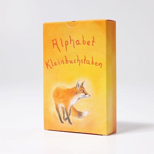 Grimms - 40530 - Kartenspiel Alphabet Kleinbuchstaben, 48 Blatt